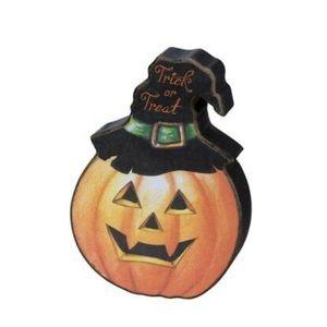 Mini Rustic Wood Primitive Halloween Pumpkin Decor